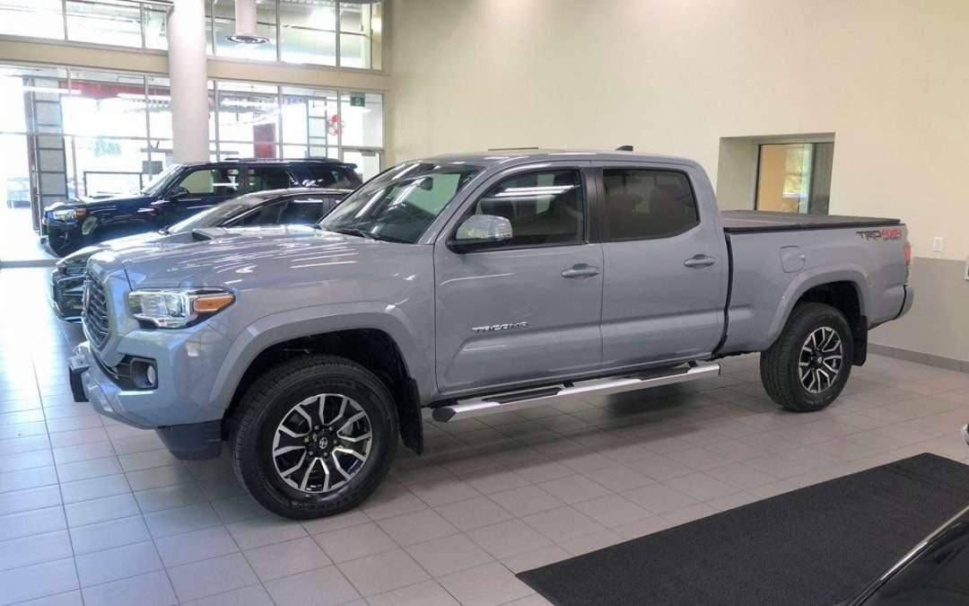 Video: 2021 Tacoma TRD Sport Premium in Cement (with Hard Tonneau Cover added)